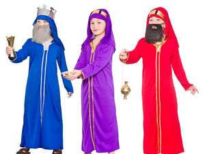Wise Man Christmas Nativity Play Wisemen Fancy Dress Costume Ages 3-10 £8.24 @  onefancydress  ebay