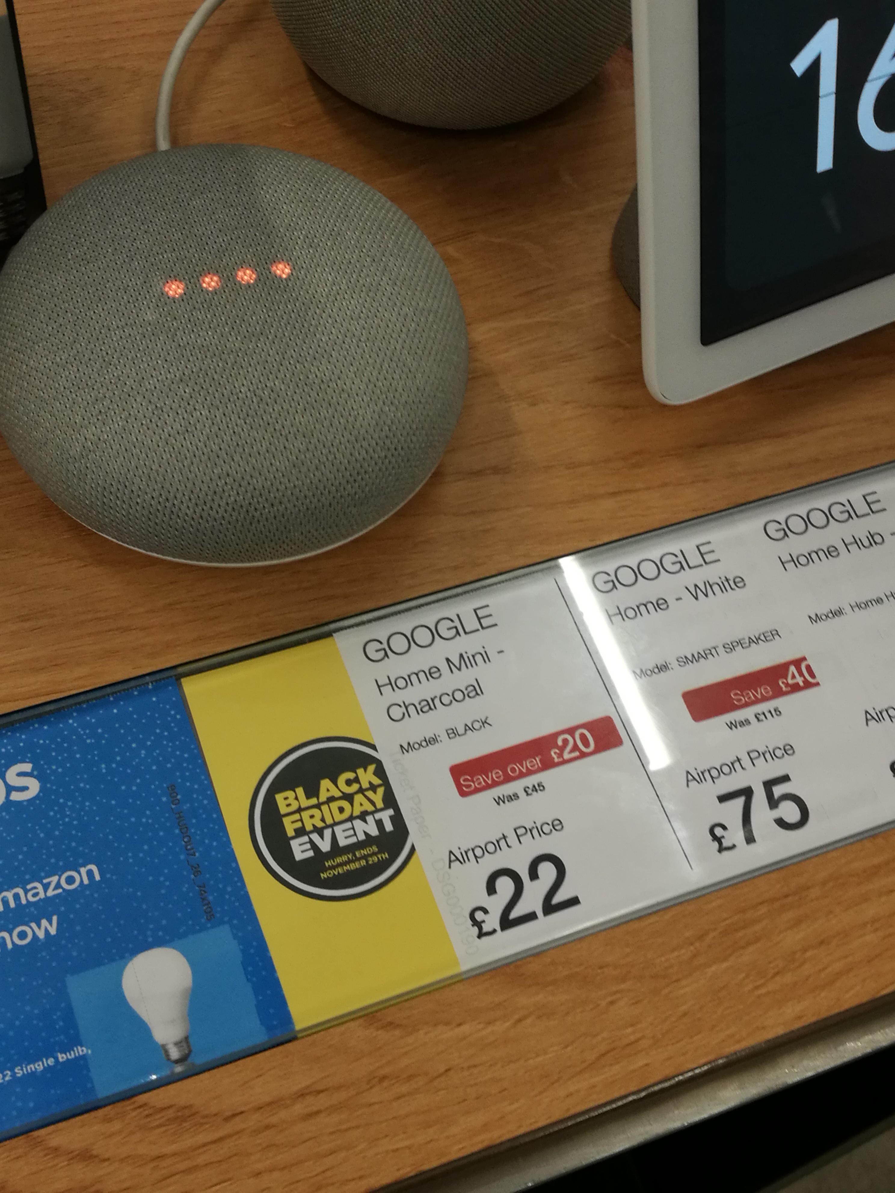 Google home mini £22 at Dixons Airport