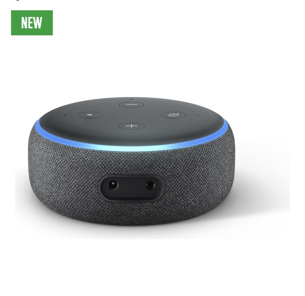 New Amazon Echo Dot - Black - £24.99 @ Argos (free C&C)