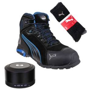 Puma RIOMID Rio Mid Safety Boots - Black  + free gifts - £69.99 @ ITS