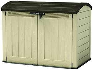Keter Store-It Out Ultra Outdoor Plastic Garden Storage Bike Shed, Beige and Brown, 177 x 113 x 134 cm £184.99  @ Amazon