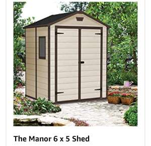 Keter 6x5 plastic shed @ amazon £246.69