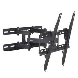 """VonHaus 23-56"""" Double Arm Tilt & Swivel TV Wall Mount Bracket £12.74 (Prime) £17.23 (Non Prime) @ Amazon / Dispatched and sold by DOMU UK"""