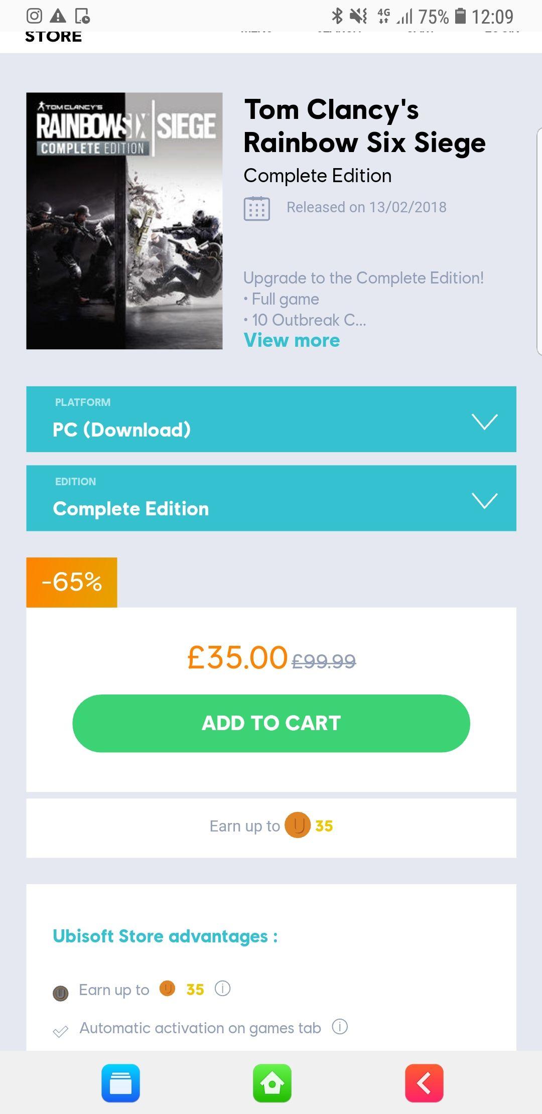 Rainbow six siege complete edition (PC Download) - £35 @ Ubi Store