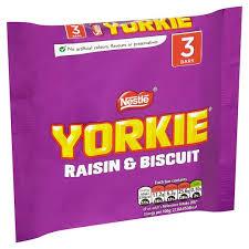 Yorkie Raisin & Biscuit 3x46g 45p @ Tesco Instore