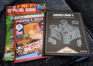 Minecraft magazine with free hardback book @asda