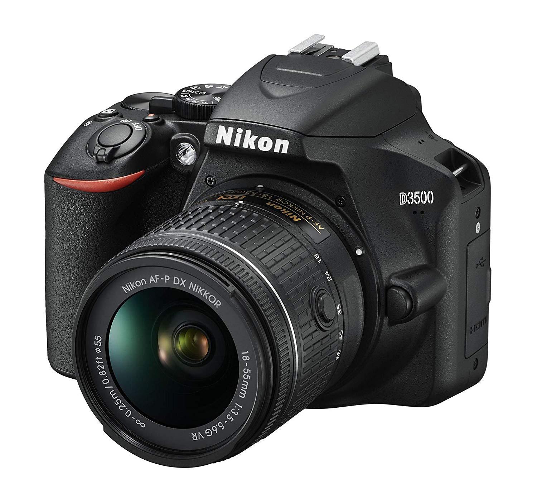 Nikon D3500 + AF-P DX 18–55 VR Kit - Black - £399 @ Amazon