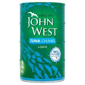 John West Tuna Chunks in Sunflower Oil / Brine or Spring Water 4 x 145g tins £3 @ Home Bargains