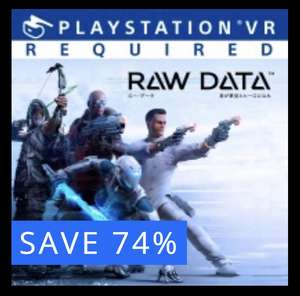 """'RAW DATA' PS4 PSVR game. £30.99 now £7.99. Closest thing to an """"i,Robot"""" shooter"""