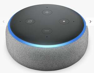 Amazon Echo Dot 3rd Generation with 2 Years Guarantee £24.99 @ John Lewis & Partners [£2 Click & Collect]