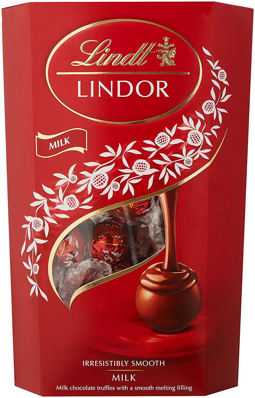 Lindt Lindor Milk Chocolate Truffles 600g (bigger than the ball) box £8.49  @ Amazon