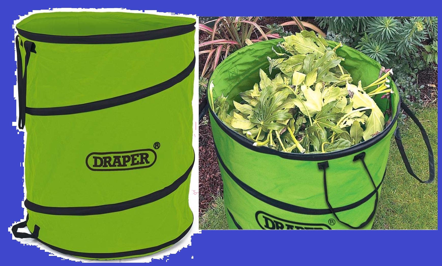 Draper 160L Garden Pop Up Tidy Bag - Green for £6.74 w/code  Free C&C @ RobertDyas