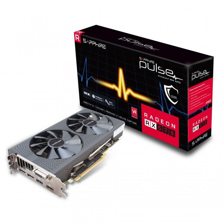 Sapphire RADEON RX 570 PULSE 8192MB GDDR5 GPU (+2 free games) £168.89 @ overclockers
