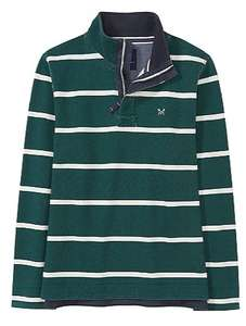 25% off everything at crew e.g padstow pique sweatshirt in bottle green/white stripe £44.25 - Free c&c