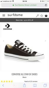 Converse All Star Ox Black/White/Navy 30% off.. PLUS an additional 10% off discount price with code + free delivery £31.49 @ Surfdome