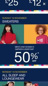 Gap sale - Offers change daily today is 50% off sweaters & wintry extras + 30% off order with code