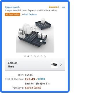 Joseph Joseph Extend Expandable Dish Rack - Grey £24.99 @ Amazon