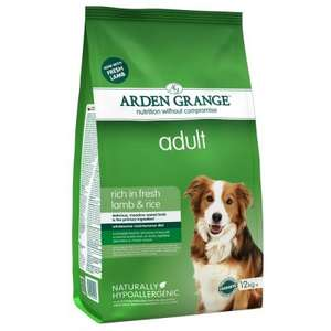 Arden Grange 12kg dry dog food from £20.12 at Amazon