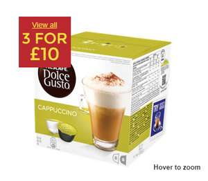 3 for £10 on all 8 pack Nescafé Dolce Gusto at Asda
