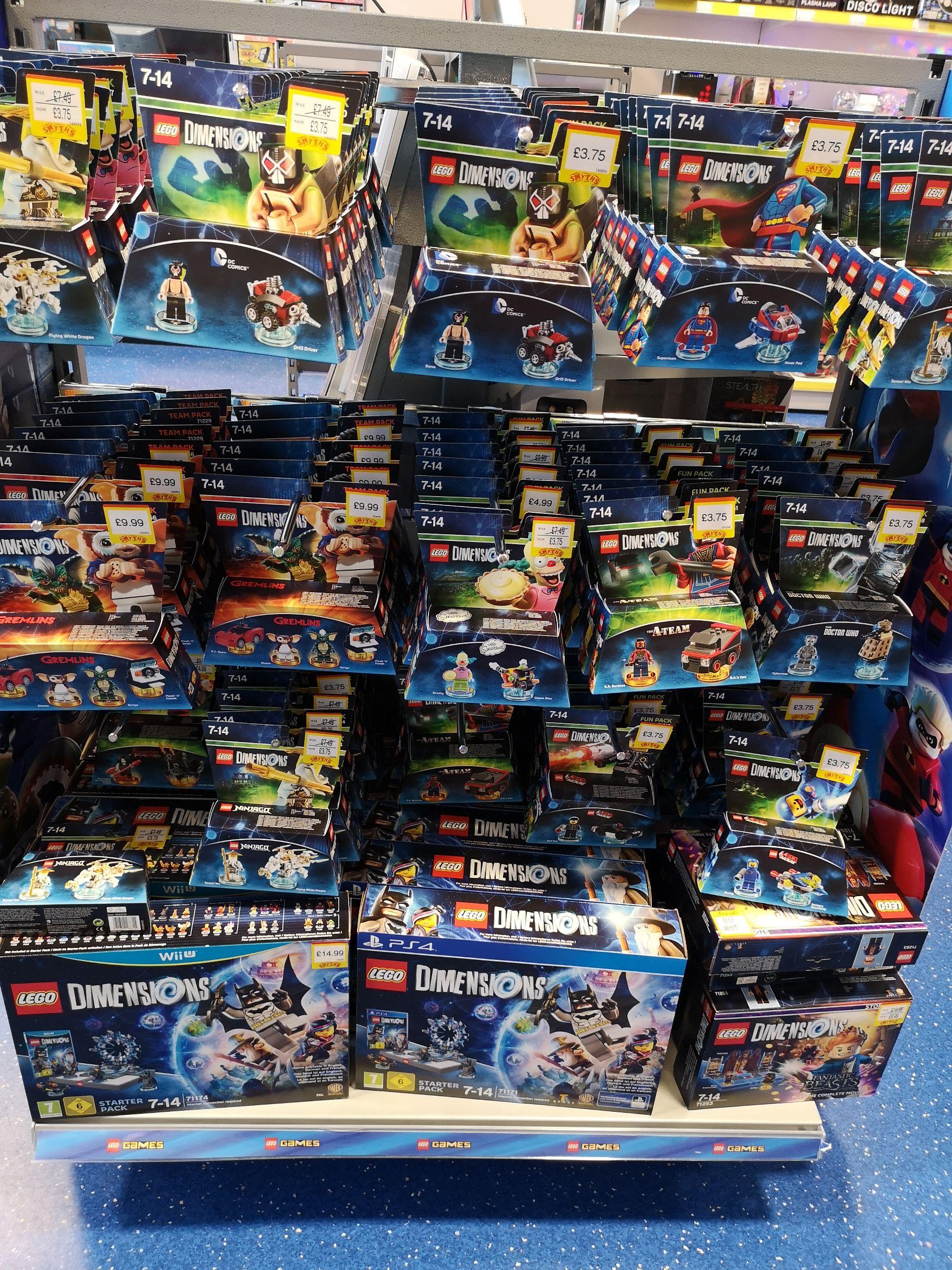 Lego dimensions £3.75 Smyths toys instore