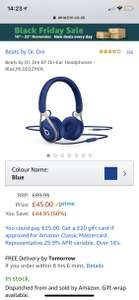 Beats by Dr. Dre EP On-Ear Headphones - Black, Blue, Red and White £45 @ Amazon
