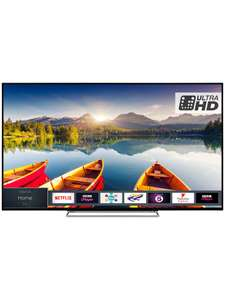 "TOSHIBA 43U6863DB 43"" Smart 4K Ultra HD HDR LED TV £279 @ John Lewis"