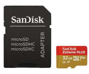 SanDisk Extreme Plus Class 10 UHS-1 U3 V30 100MB/s with Adapter - 32GB for £14.79 Delivered @ 7Dayshop