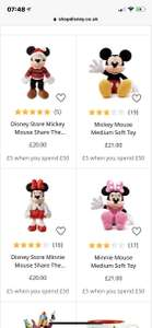 Disney Minnie or Mickey Christmas or Standard £5 with £50 spend @ Shop disney