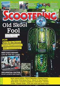 12 month subscription to Scootering magazine £22.49 with code @ iSubscribe