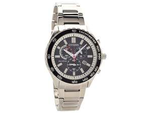 Citizen AT2380-51E Stainless Steel Eco-Drive Chronograph Bracelet Watch, £124.99 at F Hinds
