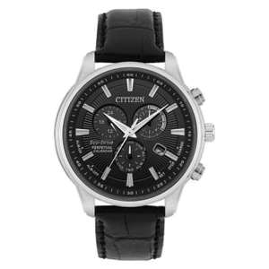 Citizen Eco drive perpetual calender watch with leather strap - £184.99 delivered using code @ H Samuel