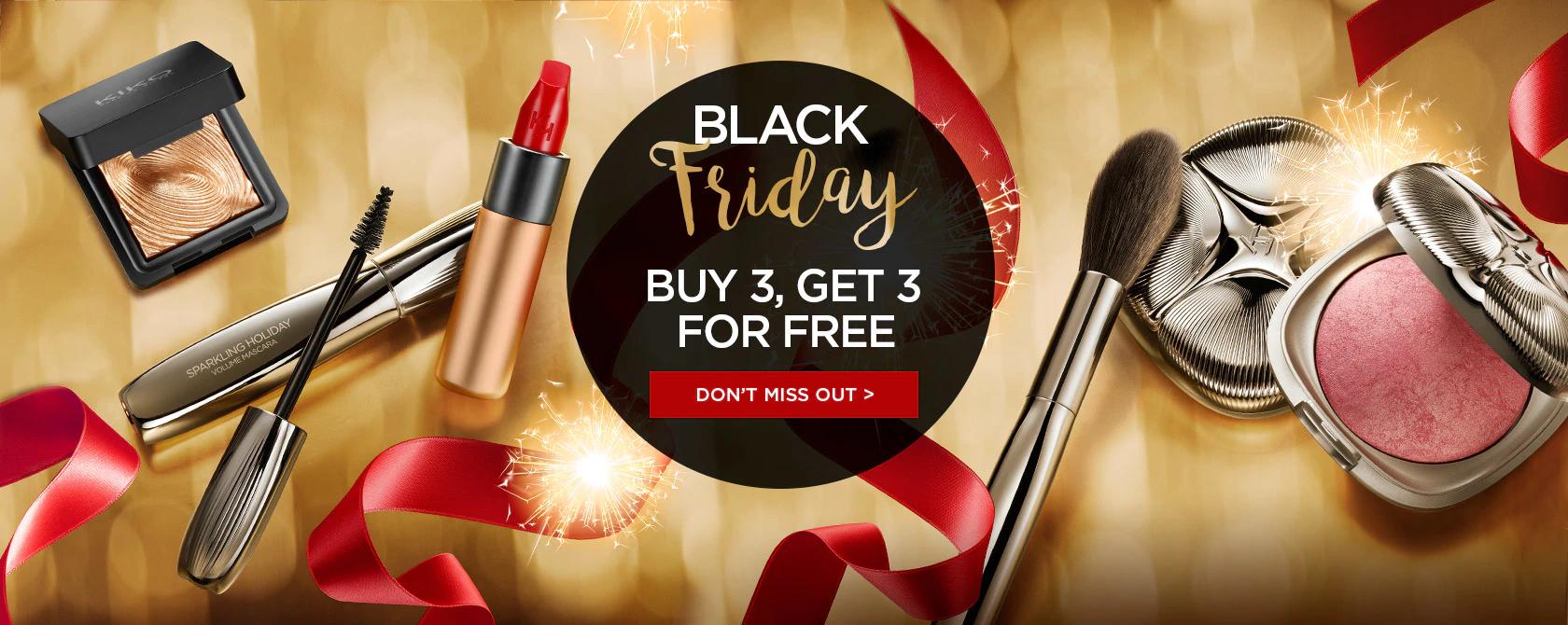 Kiko Milano - Black Friday Deal - BUY 3 Get 3 FREE