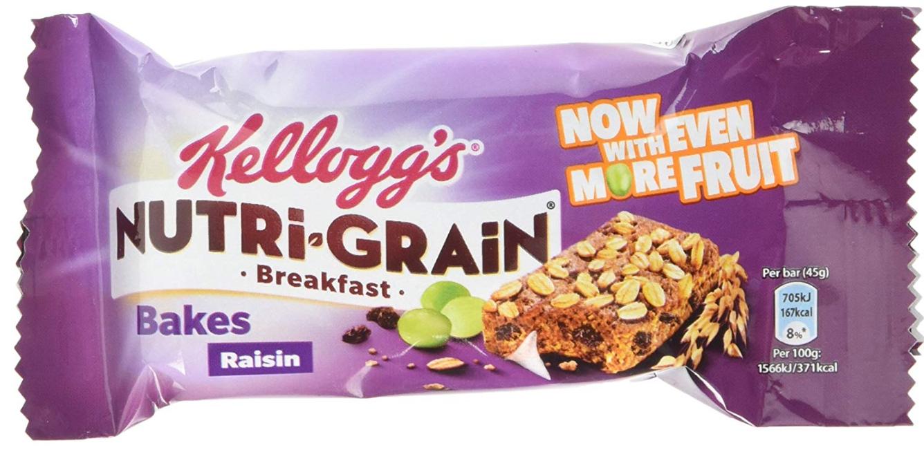 Nutri-Grain Raisin Bake Breakfast Bar, 45 g, Pack of 24 @ Amazon £4.49 Prime £8.98 Non Prime