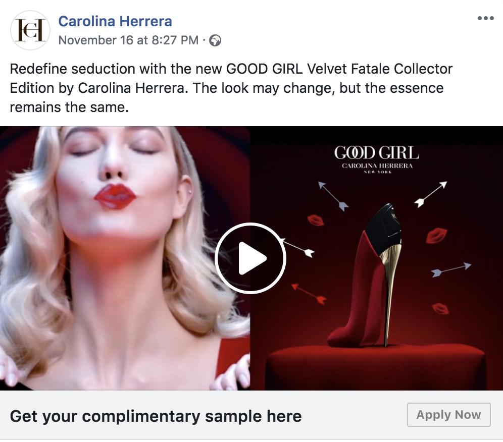 Free Sample of GOOD GIRL Velvet Fatale Perfume by Carolina Herrera