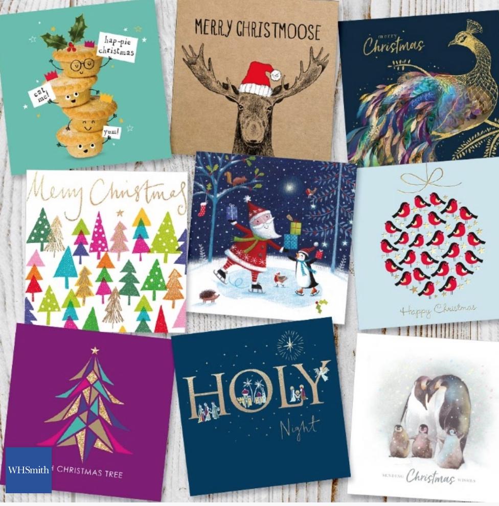 Free box of Christmas Cards WHSmith   @ o2 Priority