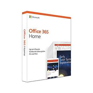 Microsoft Office 365 Home, up to 6 users, 1 year £49.99 Amazon