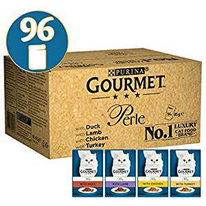 Gourmet Perle cat food,96x85g £21.99 Amazon (13.19 after discounts)