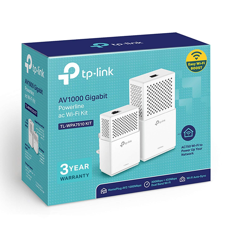 TP-Link TL-WPA7510KIT Dual Band Gigabit AC750 Powerline Adapter, Range Extender, Broadband/Wi-Fi Extender, Wi-Fi Booster £47.99 @ Amazon