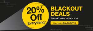 20% off on everything except doors keys at Yale online store.