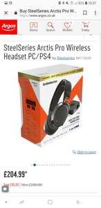 SteelSeries Arctis Pro Wireless Headset PC/PS4 from Argos for £204.99