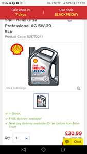 Shell Helix Ultra Professional Fully Synthetic 5w 30 Oil 20 14