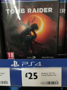 Shadow of the Tomb Raider PS4 £25 at Morrisons Bolton, Halliwell