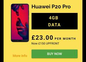 Huawei P20 Pro 128GB Twilight On Vodafone W/Unlimited Mins & Texts - 4gb Data £150 Upfront £691 w/Code @ Mobiles.co.uk