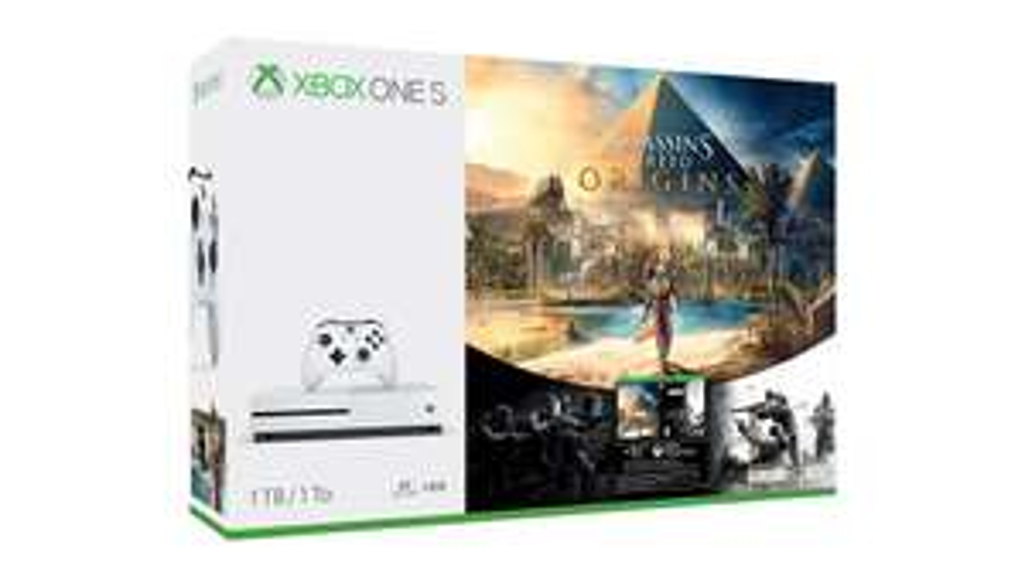 Xbox One S 1TB + Assassin's Creed Origins + Rainbow Six Siege Bundle £187.46 (Like New) at Amazon Warehouse Germany