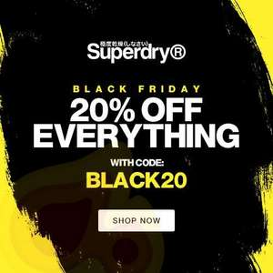 20% off Everything w/code NOW LIVE at Superdry + Free Delivery & Free Returns