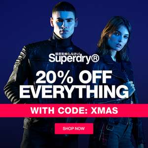 20% off Everything w/code at Superdry + Free Delivery & Free Returns - Ends soon!