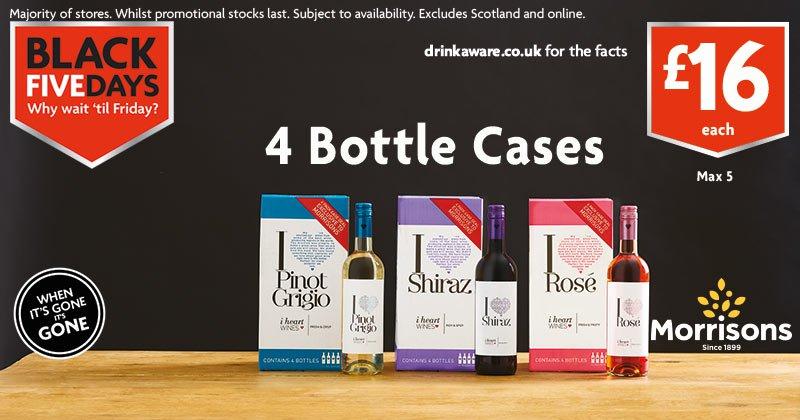 £16 4 bottle wine cases at Morrisons - Black Friday offer