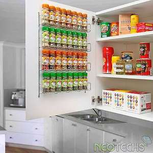 32 jar Chrome 4 Tier Spice Rack for Wall or Kitchen Cupboard at ebay/neodirect for £7.29 delivered