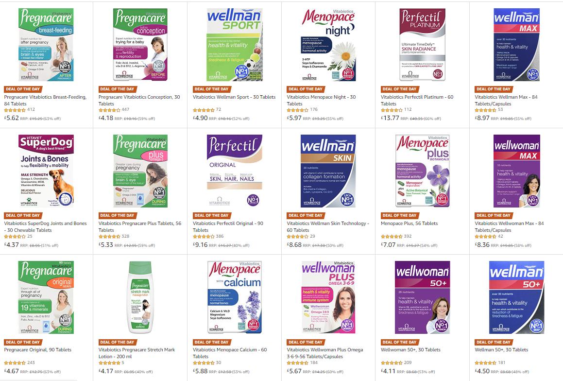 Vitabiotics vitamins reduced today - upto 65% off on Amazon UK!