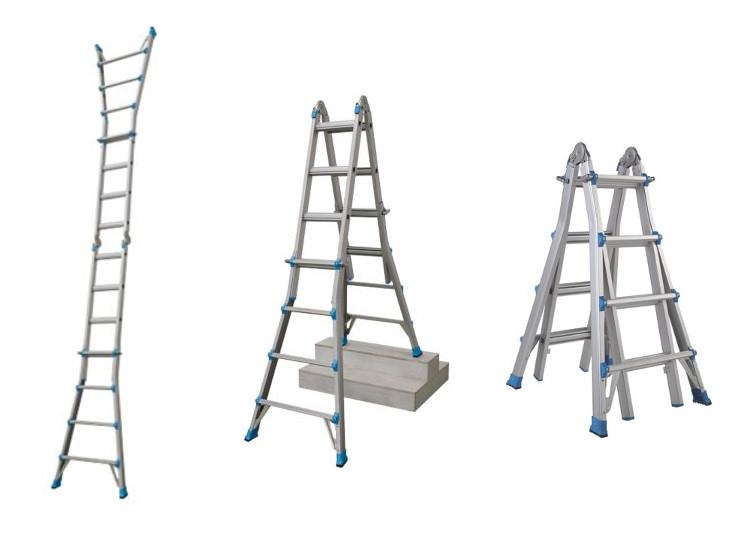 Aluminium 3-in-1 Multipurpose Telescopic Ladder 16 Treads 2.15m - £24.99 @ Screwfix (Free C&C)
